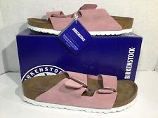 Birkenstock Womens Size 11 EU 42 Narrow Arizona Rose Suede Sandals ZB5-2216