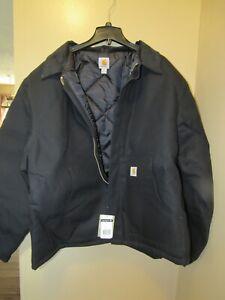 NWT BIG & TALL MEN'S 3XLT XXXL TALL CARHARTT ARTIC WEAR J002 BLK JACKET COAT