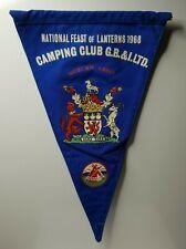"British camping club National Feast of Lanterns 1968 Woburn abbey pennant 12"""
