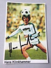 HANS KLINKHAMMER Borussia Mönchengladbach (Saison 1979/80) signed Foto 10x15