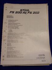 Original Liste Pièces Détachées 03/1983 Stihl FS 200 et FS 202 - Rareté