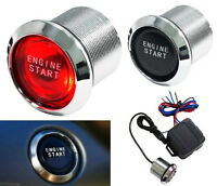DC12V Car Keyless Engine Ignition Red LED Light Power Switch Starter Push Button