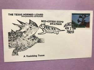 #3105i Endangered Woodland Caribou M109 Texas Horned Lizard - Vanishing Texan