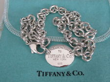 TIFFANY & Co. 925 STERLING SILVER RETURN TO TIFFANY N.Y. LINK NECKLACE, VINTAGE