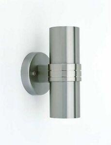 Dämmerungsschalter Wandleuchte Wandlampe Sensor edelstahl up & down auf &ab2202
