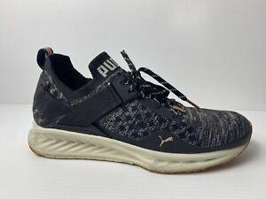 Puma Shoes Womens US 8.5 UK 6 EUR 39 Ignite Running Lace Up Adult Black Mesh