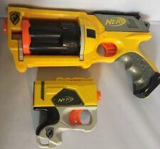 Nerf Guns Maverick Rev-6 Dart Blaster And N Strike Pistols Lot Of 2
