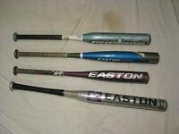 30inch Quality Sport Solid Alloy Steel Baseball Bats Self Defense Non-slip Black