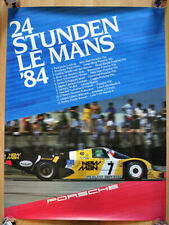 "orginal Porsche Plakat Poster Affiche "" Le Mans "" 1984 Joest Porsche 956"