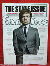 Esquire March 2014 * THE STYLE ISSUE * PETER DINKLAGE - GAME OF THRONES, X-MEN