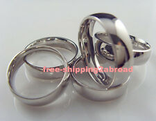 50 wholesale comfort fit inside smooth Stainless steel Rings men's Jewelry lots