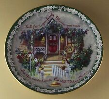 HOLD FAST TO YOUR FAMILY Plate Welcome Home Glenna Kurz Flowers Floral #2 Lovely