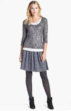 NWT Eileen Fisher Pleated Skirt Black Organic Linen Jersey $188 – XL