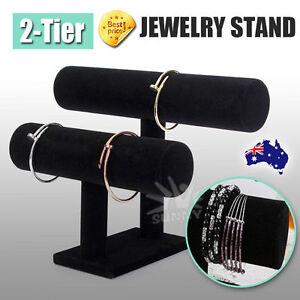 VIVVA 2-Tier Jewelry Stand Bracelet Holder Necklace Display Organizer Rack