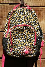 Converse Chuck Taylor All Star Backpack School Bag Animal Print Brown Pink #D-21