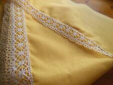 large bordure étagere  bas drap rideau dentelle jaune  au métre ancien 20 cm