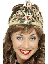 Christmas Nativity Gold Queen's Crown with Jewels Fits Adults & Kids Accessory