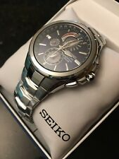 Seiko Men's Coutura Stainless Steel Solar Chronograph Watch - SSC375 (NWT)