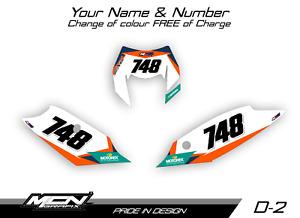 KTM EXC 2014-2016 Number Board Graphics Decals Stickers