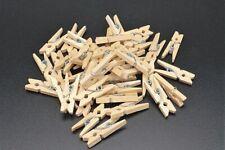 80 X Mini Holzklammern Holz Clip Natur Wäscheklammern DEKO klammer Stück