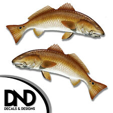 "Redfish - Fish Decal Fishing Hunting Tackle Box Bumper Sticker ""3in Set"" F530 &"