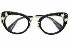 Miu Miu VMU05P eyeglasses swarovski sunglasses cat eye 1AB-1O1 Black frames