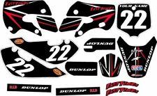 Kawasaki KLX110 2002-2009 Complete Graphics Kit - Black Arrow - by FastTimes