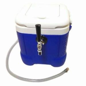 NY Brew Supply Mini Jockey Box Cooler Draft Beer Dispenser Blue Igloo 12 Qt