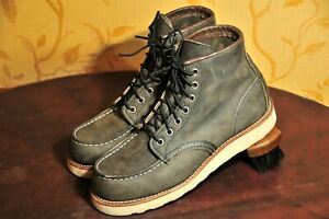 """Red Wing Heritage """"8890"""" Classic Moc Toe Charcoal Rough&Tough US 7 D / UK 6"""