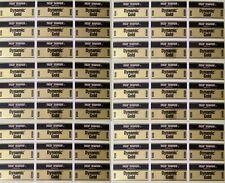 """54 TT Dynamic Gold R200 R200U Golf Shaft Band Labels Gold/Black 2"""" x 1"""""""