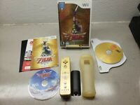 Ultra Rare Only 1 on EBAY Zelda Skyward Sword w/ Gold remote GOLD SILICONE COVER