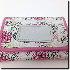 Cy Zone Floral Pink Trimmed Wallet 4.5 x 3.5 x 0.5