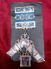 RARE VINTAGE SILVER MASONIC LODGE 236 PIN MEDAL ANTIQUE