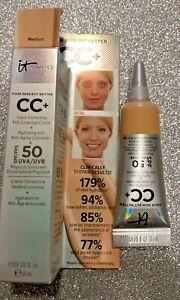 It Cosmetics CC  Cream  4ml Color Correcting Full Coverage SPF 50  MEDIUM