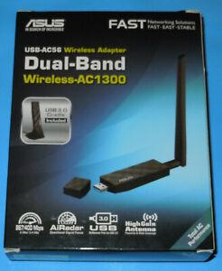 Asus USB-AC56 AC1300 Dual-band USB 3.0 Wi-Fi Adapter AiRadar