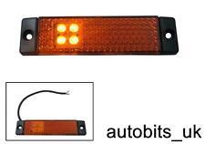 24v LED Ámbar Naranja Perfil trasera intermitente lateral Luces Lámparas Camión