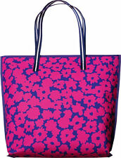 NEW Estee Lauder large tote bag pink flowers blue/purple background and trim GWP