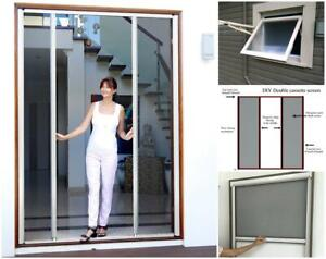 DIY Retractable Door Fly screens for French Doors UP TO 2800mmW and 2400mmH