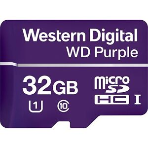 Western Digital WDD032G1P0A WD Purple 32GB Surveillance microSD Card