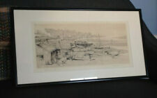 Hazy Morning, Leigh, Essex - Emmerson H. Groom (1891 - 1983) - Etching