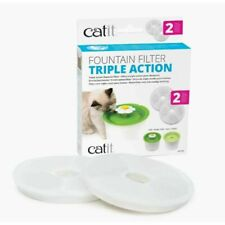 Catit 43745 Triple Action Fountain Filter - White (2 Pack)
