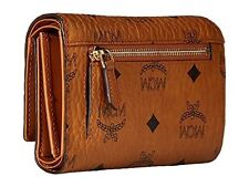 NEW MCM Women's Heritage Trifold Zip Wallet - Cognac - Size: One
