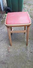 Vintage stool Wooden 50s