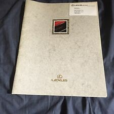 2000 Toyota Lexus ES250 USA Market Color Brochure Catalog Prospekt