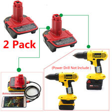 2 Pack Dewalt DCA 1820&Milwaukee M18 Convert To DC9180/9096/9182 Battery Adapter