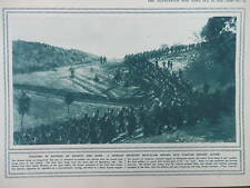 1915 SERBIAN INFANTRY MARCHING TOWARDS ACTION WWI WW1