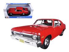 Maisto 1/18 Scale 1970 Chevy Nova SS Super Sport Red Diecast Car Model 31132