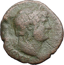 HADRIAN Bisexual Emperor BIG Ancient Roman Coin Salus Health Cult  i47948