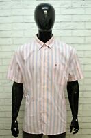 Camicia Uomo TOMMY HILFIGER Taglia Forte Maglia a Righe Polo Shirt Men Big Size