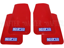 4 Sparco Car Mudflaps - RED - Wide Rally Sportsflaps - Full set of 4
